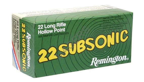 Remington Subsonic .22 Ammunition