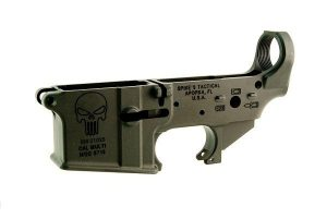 Spike's Tactical Stripped Lower - Punisher Logo-0
