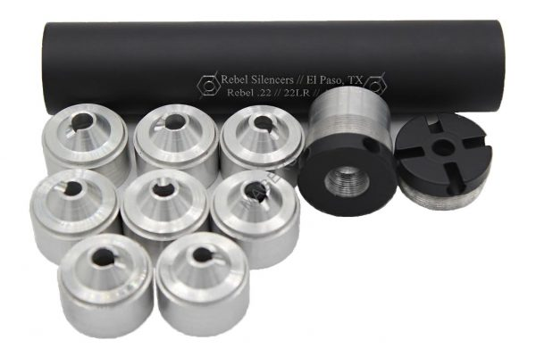 Rebel Silencer .22 with stainless baffles.-0